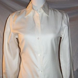 Banana Republic Cream Embellished Button Down